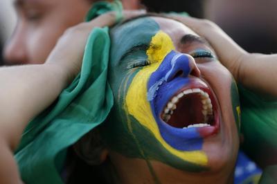 Brazil fans weep