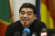 Ex-jogador argentino Diego Maradona, em Roma. 14/2/2014 REUTERS/Giampiero Sposito