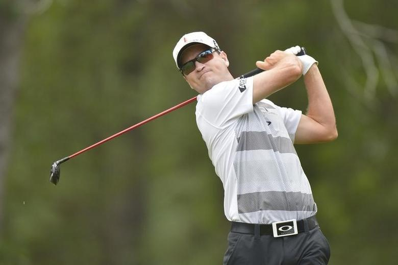 Zach Johnson tees off on the 10th tee during the first round of the 2014 U.S. Open golf tournament at Pinehurst Resort Country Club - #2 Course. Jun 12, 2014; Pinehurst, NC, USA; Kevin Liles-USA TODAY Sports