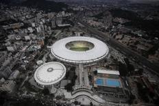 Vista aérea do estádio Maracanã, onde Alemanha e Argentina disputarão a final da Copa do Mundo em 13 de julho. REUTERS/Ricardo Moraes