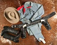 An outfit, which actor Clayton Moore wore when he made appearances as the Lone Ranger character he played on the TV series more than a half century ago, is seen in an undated handout picture courtesy of A and S Auction Company, in Waco, Texas.    REUTERS/Sam Franks/A and S Auction Company/Handout via Reuters