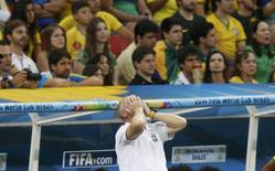Técnico Luiz Felipe Scolari durante derrota do Brasil para a Holanda em Brasília. 12/07/2014   REUTERS/Ueslei Marcelino