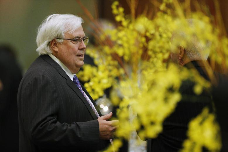 Australian Politician Clive Palmer is pictured during a dinner hosted for Japan's Prime Minister Shinzo Abe at Parliament House in Canberra, July 8, 2014.  REUTERS/Jason Reed