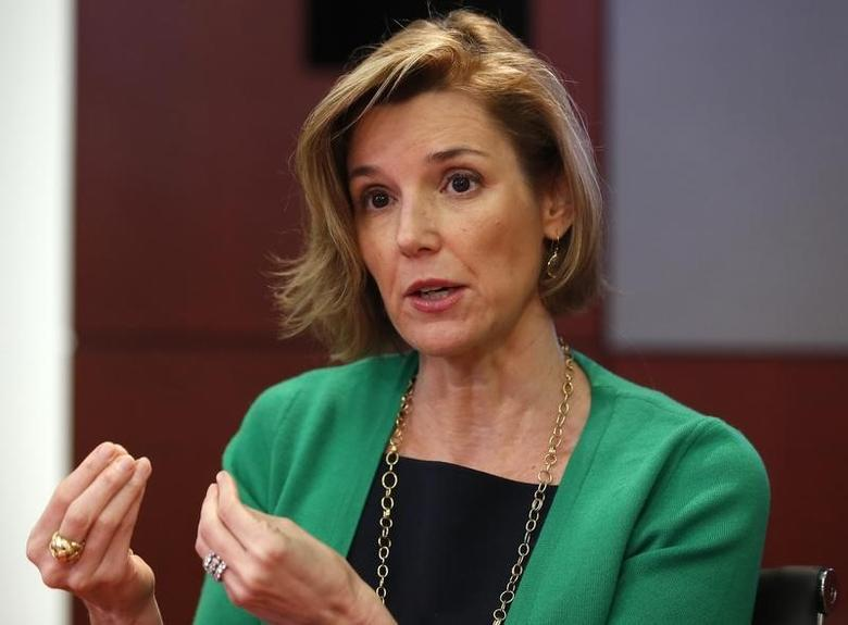 Sallie Krawcheck, the former president of the Global Wealth & Investment Management division of Bank of America, speaks during the Reuters Wealth Management Summit in New York June 3, 2013.   REUTERS/Shannon Stapleton