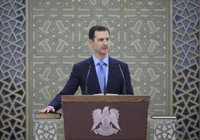 Confident Assad launches new term in stronger position...