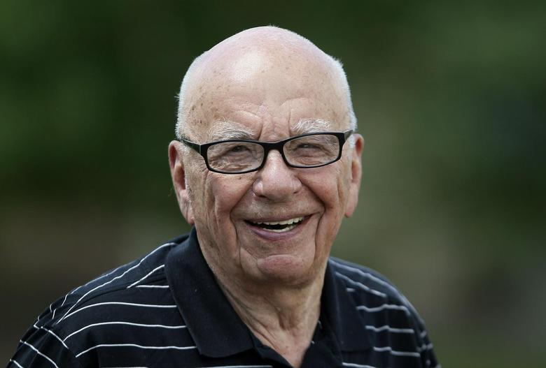 Twenty-First Century Fox Inc Chief Executive Rupert Murdoch smiles on the second day of the Allen and Co. media conference in Sun Valley, Idaho July 10, 2014. REUTERS/Rick Wilking