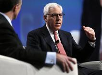 David M. Rubenstein, co-CEO of The Carlyle Group, speaks at the SALT conference in Las Vegas May 15, 2014. REUTERS/Rick Wilking