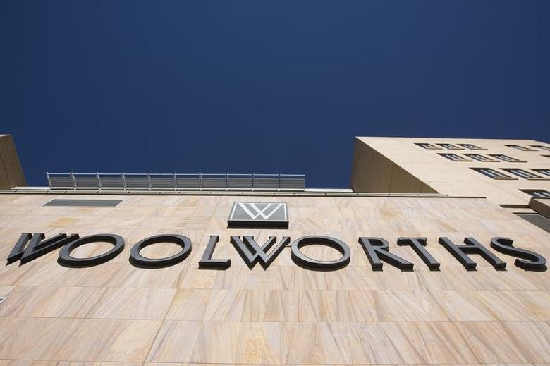 The Woolworths logo is seen on the wall of a shopping mall in Johannesburg June 19, 2014.  REUTERS/Rogan Ward
