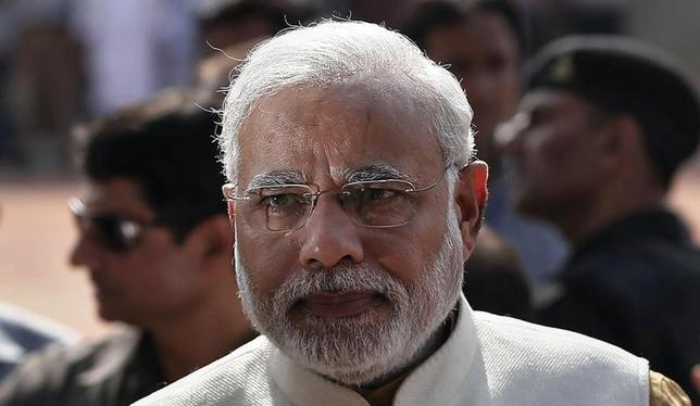 Hindu nationalist Narendra Modi, who will be the next prime minister of India, speaks with the media after his meeting with India's President Pranab Mukherjee at the Presidential Palace in New Delhi May 20, 2014.  REUTERS/Adnan Abidi