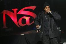 Rapper Nas performs after the 2014 Tribeca Film Festival opening night screening of 'Time Is Illmatic' in New York April 16, 2014. REUTERS/Shannon Stapleton