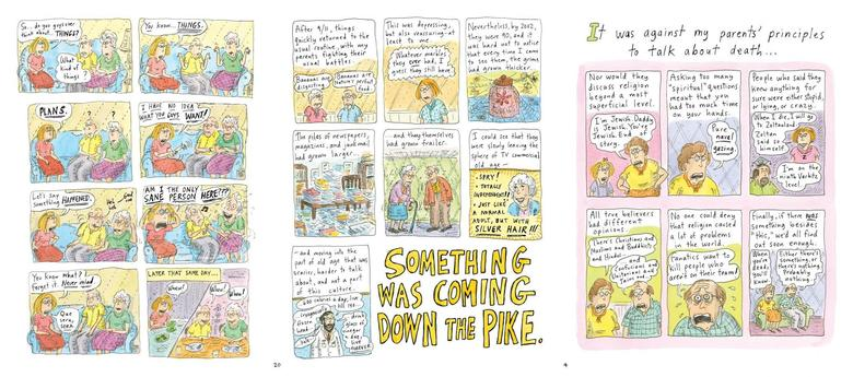 Can't We Talk About Something More Pleasant?'' by cartoonist Roz Chast.   REUTERS/Handout