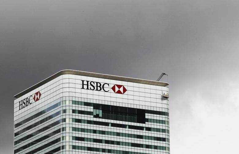 The HSBC building is seen on Canary Wharf in London May 11, 2011 .   REUTERS/Olivia Harris