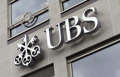 The logo of UBS bank is seen at its Belgian office in Brussels June 20, 2014.  REUTERS/Francois Lenoir