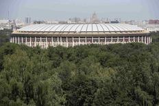 Vista-geral do estádio Luzhniki, em Moscou. 14/07/2014.  REUTERS/Sergei Karpukhin