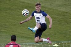 Antoine Griezmann durante treino em Ribeirão Preto. 17/06/2014. REUTERS/Charles Platiau