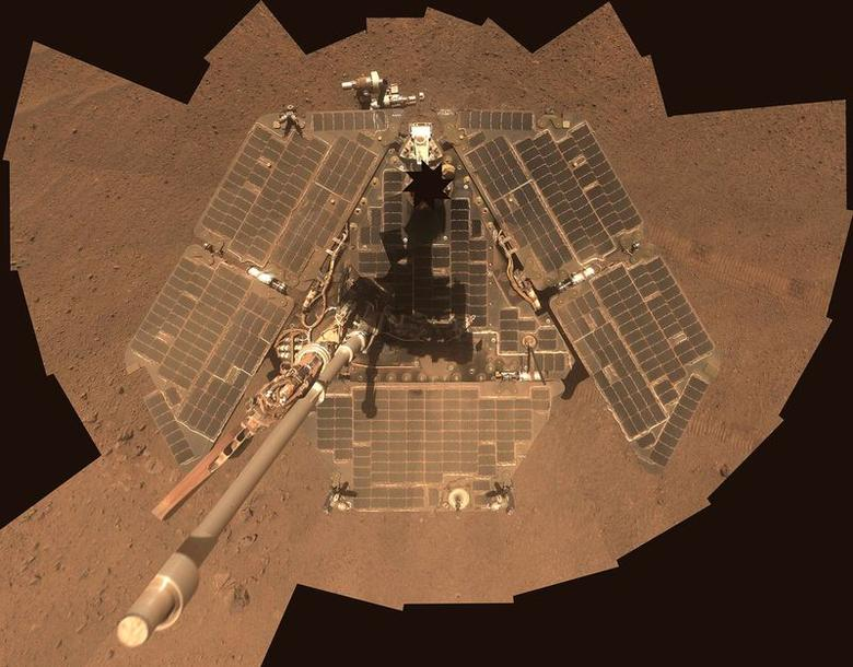 NASA's Mars Exploration Rover Opportunity is shown in this handout photo released to Reuters July 29, 2014. REUTERS/NASA/JPL-Caltech/Cornell Univ./Arizona State University/Handout