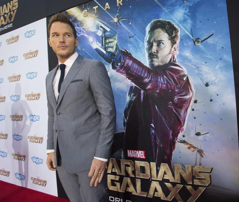 Cast member Chris Pratt poses at the premiere of ''Guardians of the Galaxy'' in Hollywood, California in this file photo taken July 21, 2014.  REUTERS/Mario Anzuoni/Files