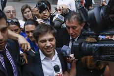 Ministro da Economia da Argentina, Axel Kicillof, ao sair de uma reunião sobre a dívida argentina, em Nova York. 7/06/2014.  REUTERS/Shannon Stapleton
