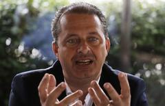 Candidato do PSB à Presidência, Eduardo Campos, durante entrevista à Reuters em São Paulo. 17/04/2014. REUTERS/Nacho Doce