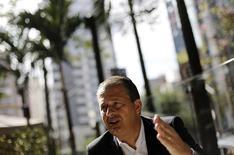 Candidato do PSB à Presidência, Eduardo Campos, dá entrevista à Reuters em São Paulo. 17/04/2014. REUTERS/Nacho Doce