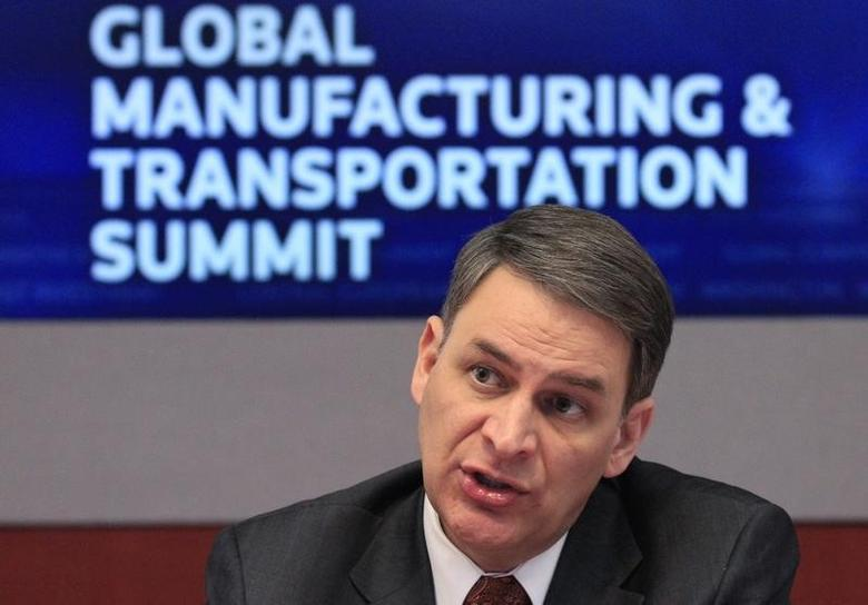 Jay Timmons, president and CEO of the National Association of Manufacturers (NAM), speaks at the 2011 Reuters Manufacturing and Transportation Summit in New York, December 13, 2011. REUTERS/Brendan McDermid