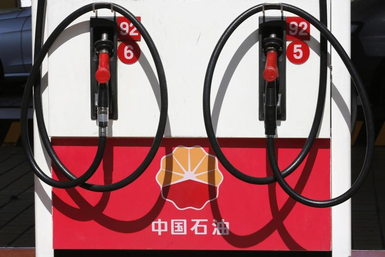 PetroChina's logo is seen at a gas station in Beijing in this August 29, 2013 file photo. REUTERS/Kim Kyung Hoon/Files