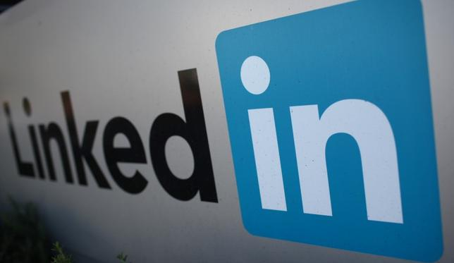 The logo for LinkedIn Corporation, a social networking website for people in professional occupations, is pictured in Mountain View, California February 6, 2013.  REUTERS/Robert Galbraith