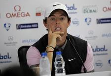 Rory Mcllroy of Northern Ireland speaks during a news conference of the Dubai Desert Classic at the Emirates Golf Club January 29, 2014. REUTERS/Nikhil Monteiro