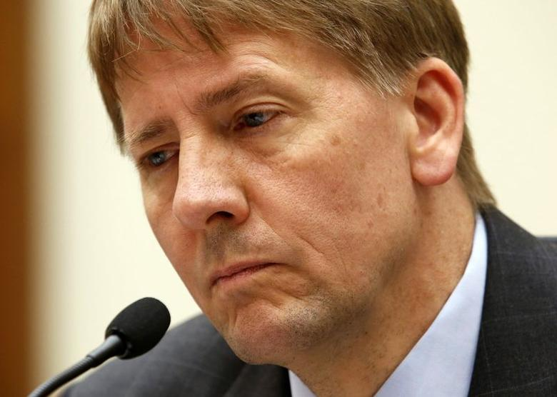 Consumer Financial Protection Bureau Director Richard Cordray testifies before House Financial Services Oversight and Investigations Subcommittee hearing on ''Allegations of Discrimination and Retaliation and the CFPB Management Culture'' on Capitol Hill in Washington, July 30, 2014. REUTERS/Yuri Gripas