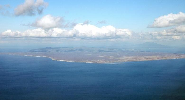 An aerial view shows Kunashiri Island, one of four islands known as the Southern Kuriles in Russia and Northern Territories in Japan, is seen in this photo taken 2005. REUTERS/Kyodo/Files