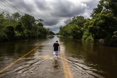 Flash floods in Long Island