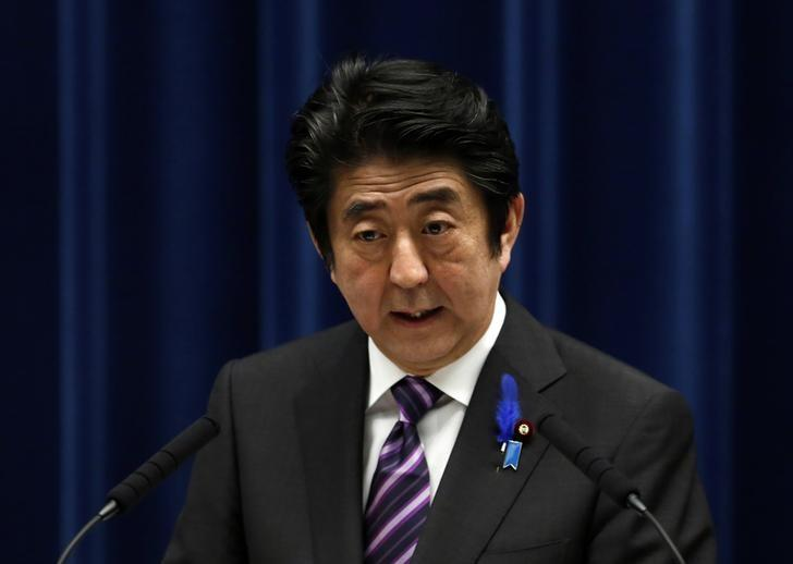 Japan's Prime Minister Shinzo Abe speaks during a news conference at his official residence in Tokyo July 1, 2014. REUTERS/Yuya Shino
