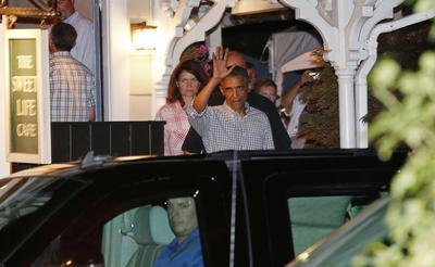 Obama, Clinton mingle on Martha's Vineyard after...