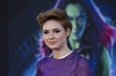 "Atriz Karin Gillan na premiere de ""Guardiões da Galáxia"" em Hollywood. 21/07/2014 REUTERS/Mario Anzuoni"