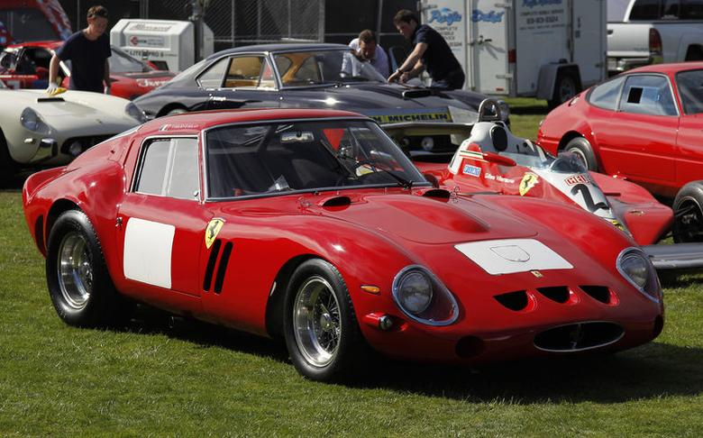 A 1962-63 Ferrari 250 GTO Berlinetta is parked prior to taking the stage for the Bonhams Quail Lodge car auction in Carmel, California, August 14, 2014. REUTERS/Michael Fiala