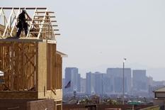 Nova casa sendo construída em Las Vegas, no Estado de Nevada, EUA.  5/04/2013.  REUTER/Steve Marcus