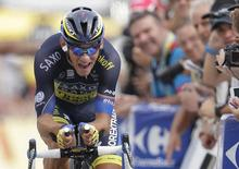 Team Saxo-Tinkoff rider Roman Kreuziger of the Czech Republic cycles during the 32km individual time-trial seventeenth stage of the centenary Tour de France cycling race from Embrun to Chorges July 17, 2013.  REUTERS/Jacky Naegelen