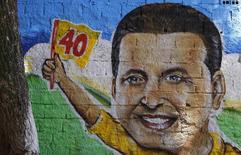 Pintura de Eduardo Campos em um muro no centro de Recife. 14/8/2014 REUTERS/Ricardo Moraes