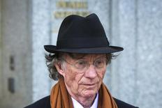 Texas investor Samuel Wyly exits the Manhattan Federal Court in this file photo taken April 22, 2014. REUTERS/Lucas Jackson/Files