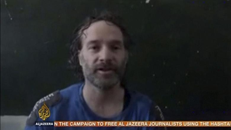U.S. journalist Peter Theo Curtis is shown in this undated still frame taken from video courtesy of Al Jazeera on August 24, 2014.   REUTERS/Al Jazeera/Handout via Reuters