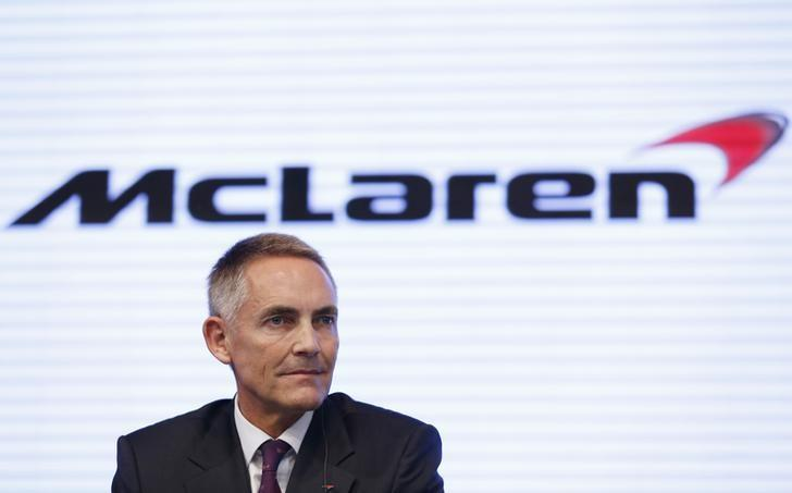 McLaren Group Limited CEO Martin Whitmarsh attends a joint news conference with Honda Motor Co's President and Chief Executive Officer Takanobu Ito (not in picture) in Tokyo May 16, 2013. REUTERS/Issei Kato