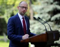Primeiro-ministro da Ucrânia, Arseny Yatseniuk, em Kiev. 08/08/2014 REUTERS/Andrew Kravchenko/Pool