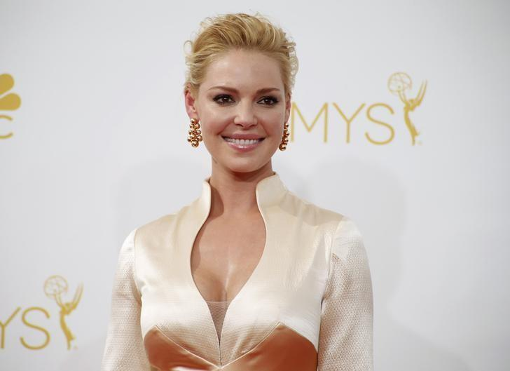 Actress Katherine Heigl from the upcoming NBC drama series ''State of Affairs'' arrives at the 66th Primetime Emmy Awards in Los Angeles, California August 25, 2014.  REUTERS/Lucy Nicholson