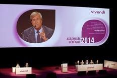 Vincent Bolloré, maior acionista e chairman da Vivendi, durante encontro de acionistas da companhia em Paris em junho. REUTERS/Benoit Tessier