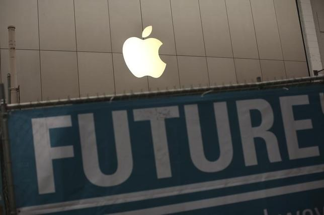 8月28日、アップルは、9月9日にカリフォルニア州クパチーノでメディア向けに「特別イベント」を開催する。写真は同社のロゴマーク。サンフランシスコで2013年1月撮影(2014年 ロイター/Robert Galbraith)