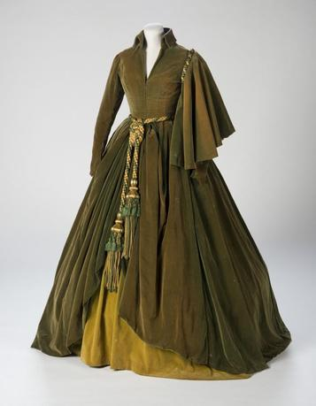 The conserved green curtain dress worn by Vivien Leigh as Scarlett O'Hara in ''Gone With The Wind'' is shown in this handout photo courtesy of the Harry Ransom Center provided August 28, 2014.  REUTERS/Pete Smith/Harry Ransom Center/Handout via Reuters
