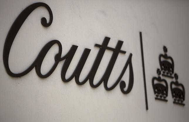The name of Coutts is seen displayed on a branch of the bank in central London August 11, 2014.      REUTERS/Neil Hall