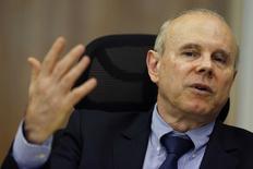 Ministro da Fazenda, Guido Mantega, durante entrevista à Reuters em Brasília. 5/8/2014 REUTERS/Ueslei Marcelino