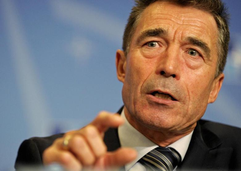 NATO Secretary-General Anders Fogh Rasmussen speaks during a news conference at the Residence Palace in Brussels September 1, 2014. REUTERS/Laurent Dubrule