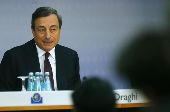 European Central Bank (ECB) President Mario Draghi speaks during the bank's monthly news conference in Frankfurt August 7, 2014. REUTERS/Ralph Orlowski
